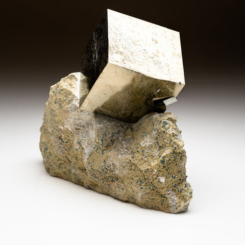 Pyrite Cube on Basalt From Navajun, Spain (3 lbs)