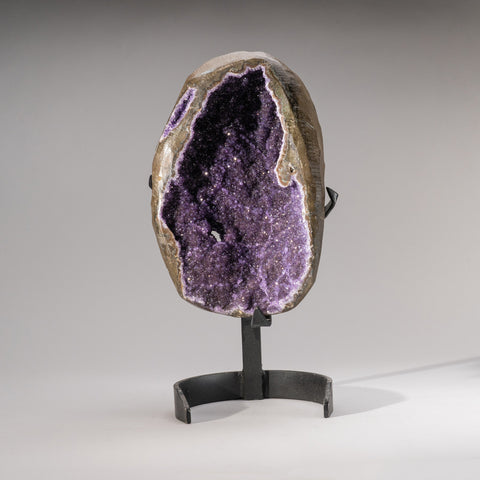 Amethyst Cluster Geode on Stand from Uruguay (18 lbs)