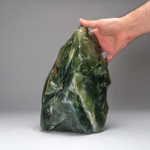 Polished Green Jade Freeform from Pakistan (14.5 lbs)