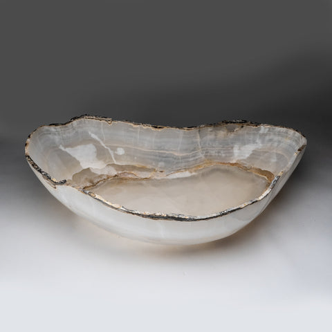 White Onyx Bowl From Mexico (25 lbs)