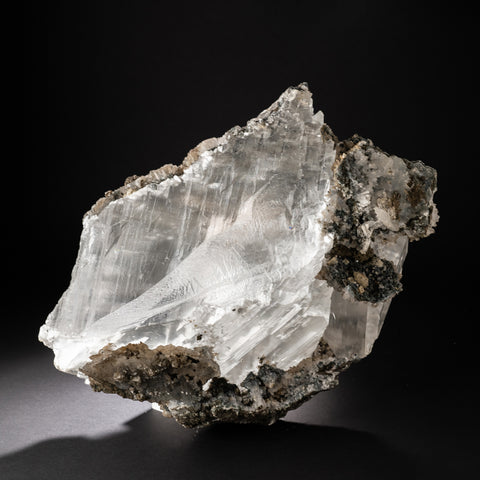 Gypsum Var. Selenite Crystal in Quartz Matrix from Brazil (42.5 lbs)