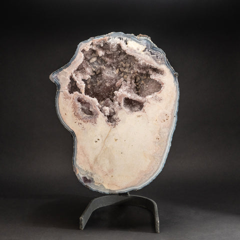 "Large Genuine Pink Druzy Quartz on Metal Stand (25"", 60.4 lbs)"