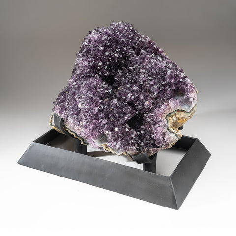 Genuine Amethyst Cluster on Metal Stand (62 lbs)