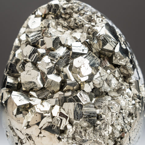 Polished Pyrite Egg from Peru (1.8 lbs)