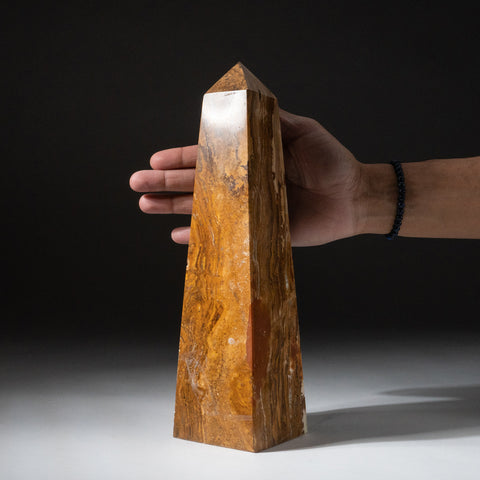 Genuine Polished Onyx Obelisk from Mexico (1.8 lbs)