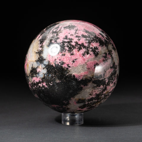 Polished Imperial Rhodonite Sphere from Madagascar (4.5'', 4.8 lbs)