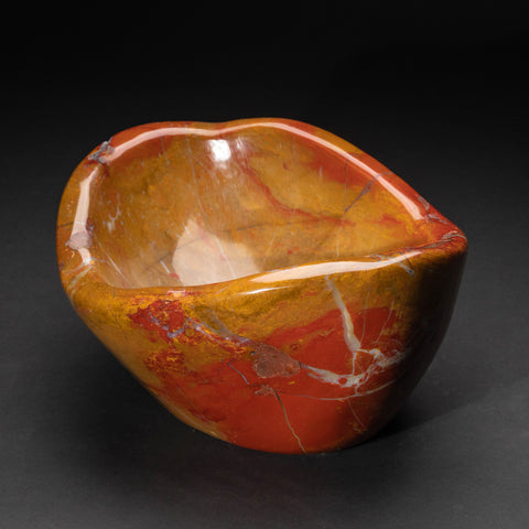 Polished Red and Yellow Jasper Bowl (16.6 lbs)