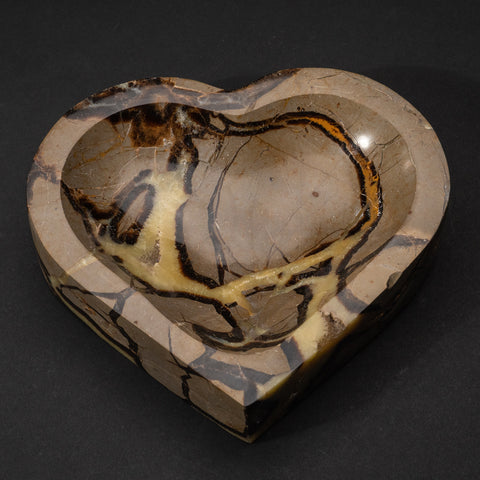 Polished Septarian Heart Shaped Dish (3.4 lbs)