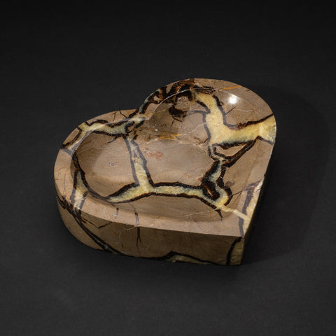 Polished Septarian Shaped Heart Dish (4 lbs)