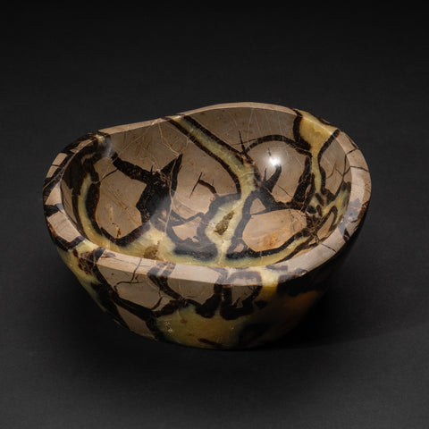 Polished Septarian Bowl from Madagascar (5.5 lbs)