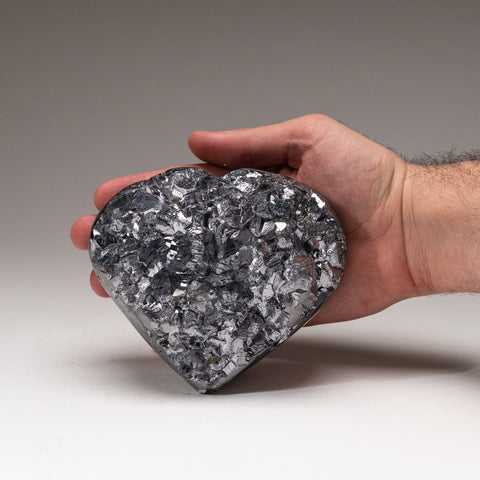 Genuine Polished Galena Heart (5.8 lbs)