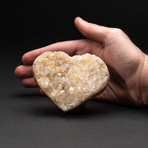 Genuine Lemon Quartz Cluster Heart from Brazil (274.5 grams)