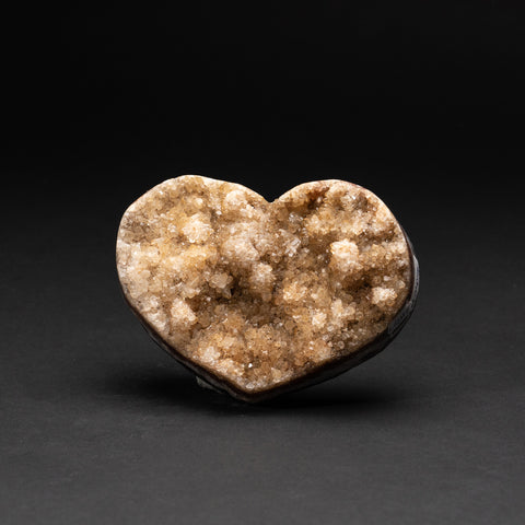 Genuine Lemon Quartz Cluster Heart from Brazil (338 grams)