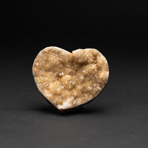 Genuine Lemon Quartz Cluster Heart from Brazil (200 geams)