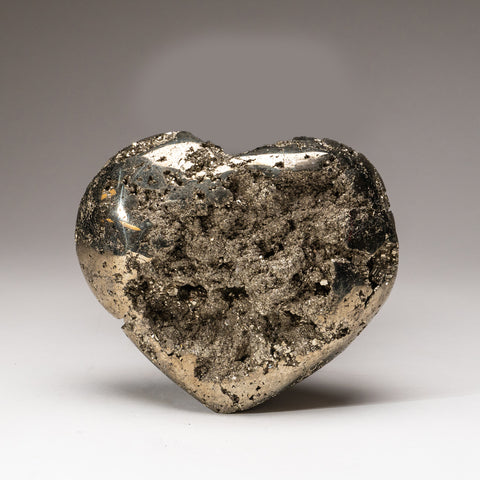 Large Polished Pyrite Heart (5.2 lbs)