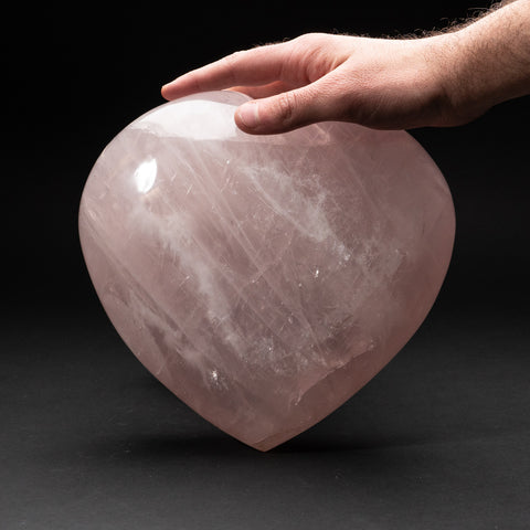 Polished Rose Quartz Heart from Brazil (15.2 lbs)