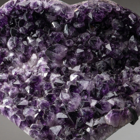 Massive Amethyst Cluster Heart on Custom Metal Stand (44 lbs)