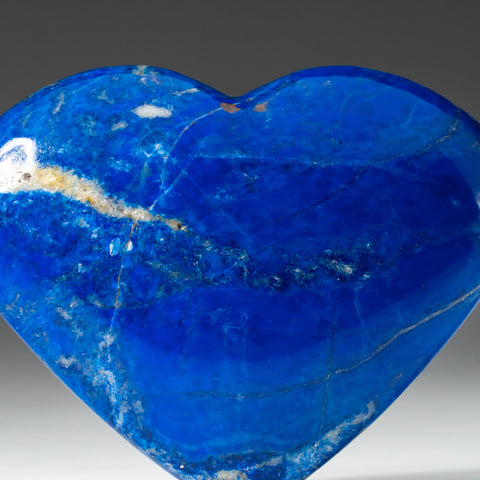 Polished Lapis Lazuli Heart from Afghanistan (177 grams)