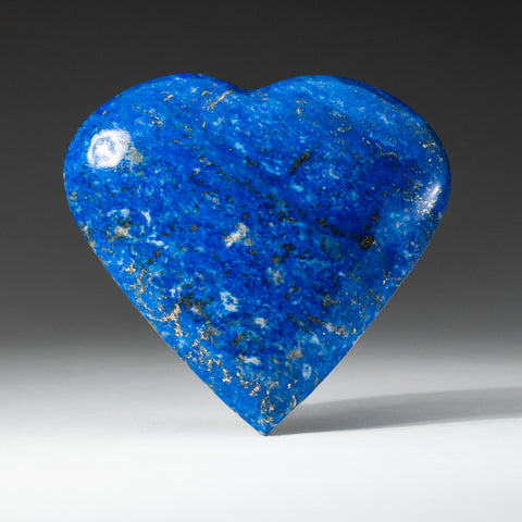 Polished Lapis Lazuli Heart from Afghanistan (281 grams)