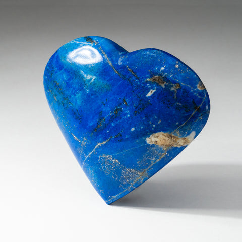 Polished Lapis Lazuli Heart from Afghanistan (258 grams)