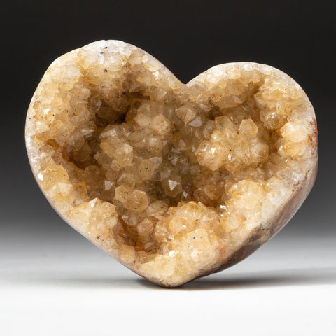 Citrine Cluster Heart from Uruguay (.7 lbs)