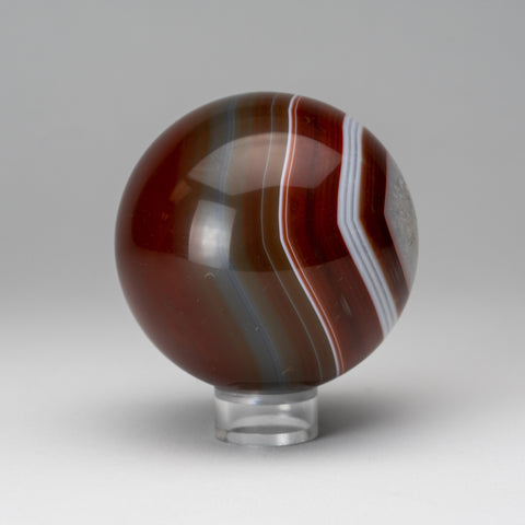 "Polished Agate Sphere (2.5"" Diameter, 1 lb)"