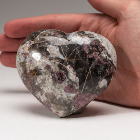 Genuine Polished Ruby in Quartz Heart from India (430 grams)