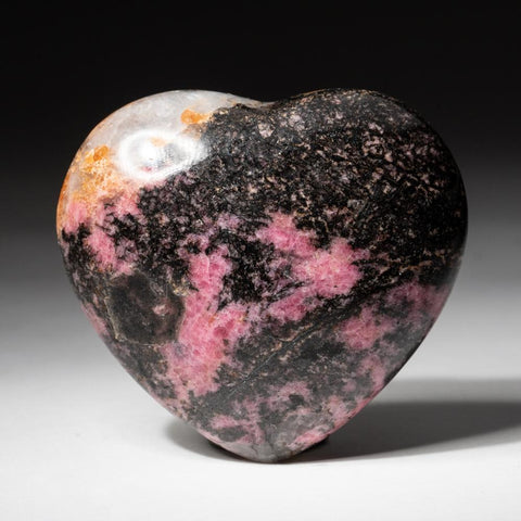 Polished Imperial Rhodonite Heart from Madagascar (300 grams)