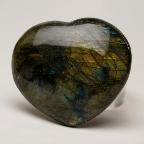 Genuine Polished Labradorite Heart