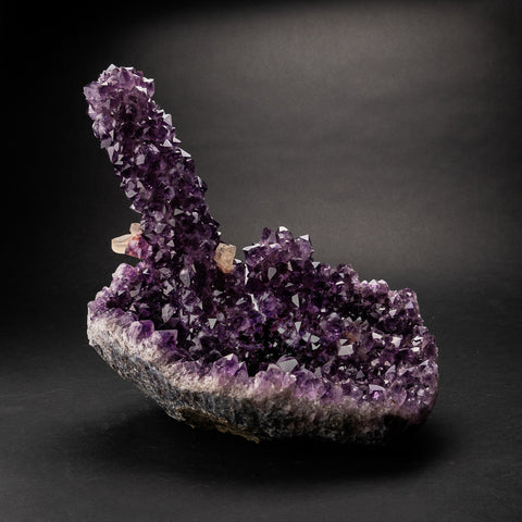 Natural Amethyst Stalagtite Cluster with Calcite (10 lbs)
