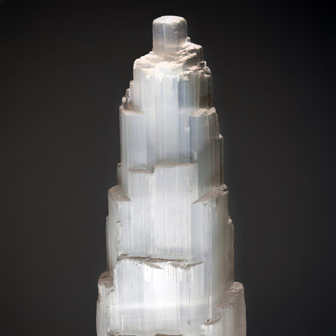 Selenite Crystal Castle Tower from Morocco (9.5 lbs)