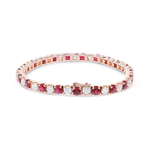 14k Rose Gold Ruby Bracelet (UB1804-62)