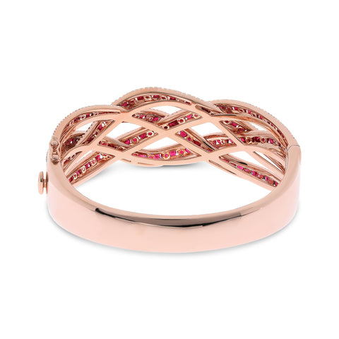 14k Rose Gold Ruby Bangle (UB2069-3)