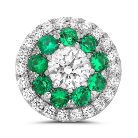 14k White Gold Emerald Earring (UE1801-3)