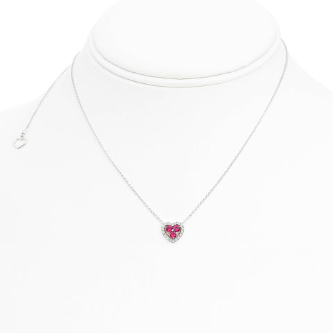 14k White Gold Ruby Necklace (UN1913-2)