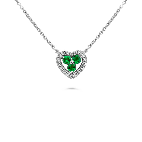 14k White Gold Tsavorite Necklace (UN1913-4)