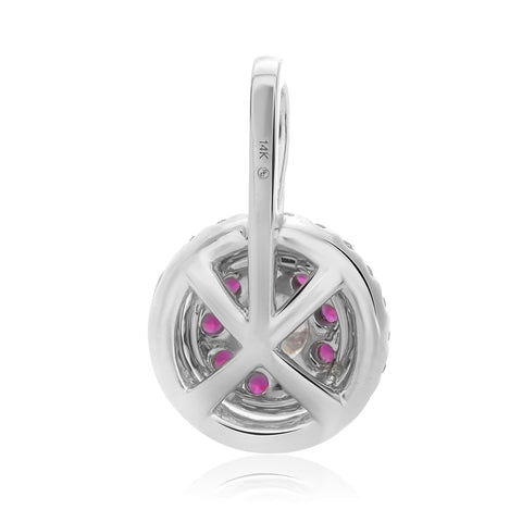 14k White Gold Ruby Pendant (UP1801-1)