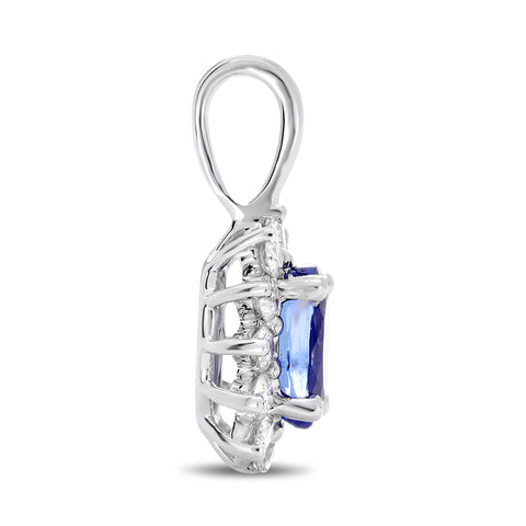 14k White Gold  Nickel Free Tanzanite  Pendant (UP1974-2)