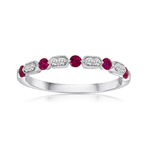 14k White Gold Ruby Ring (UR1300WRB-A)