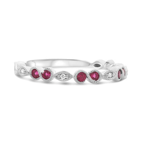 14k White Gold Ruby Ring (UR1468WRB)