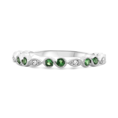 14k White Gold Tsavorite Ring (UR1468WTSV)