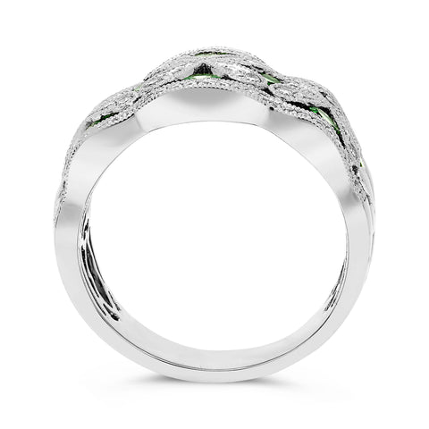 14k White Gold Tsavorite Ring (UR1528WTSV)