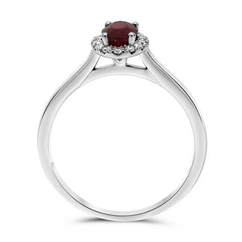 14k White Gold Ruby Ring (UR1745A-11)