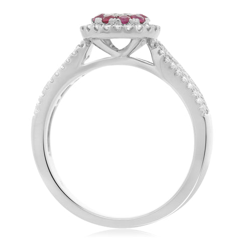14k White Gold Ruby Ring (UR1801-4)