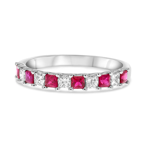 14k White Gold Ruby Ring (UR1894-7)