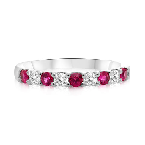 14k White Gold Ruby Ring (UR1908B-15)