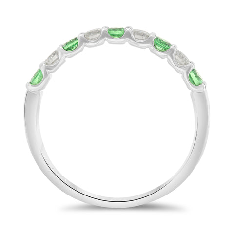 14k White Gold Tsavorite Ring (UR1908B-17)