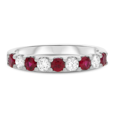 14k White Gold Ruby Ring (UR1908B-8)