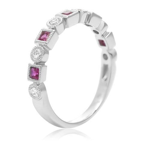 14k White Gold Ruby Ring (UR1984-2)