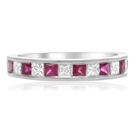 14k White Gold Ruby Ring (UR1986-4)
